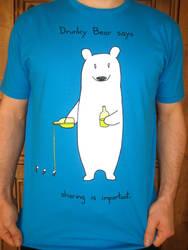 Drunky Bear Tshirt by sebreg