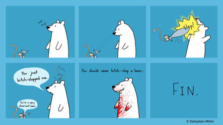 Bitch Slap a Bear by sebreg