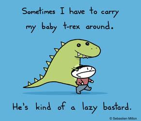 Lazy Baby Trex by sebreg