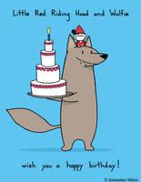 Little Red Riding Hood Happy Birthday by sebreg