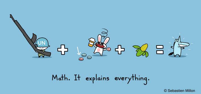 Unicorn Math Equation by sebreg