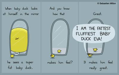 When Baby Duck Looks At Himself In The Mirror by sebreg