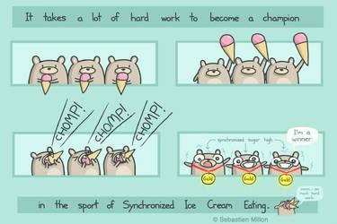 Synchronized Ice Cream Eating by sebreg