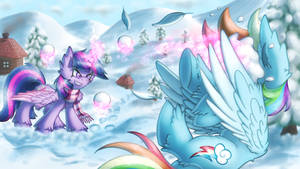 Snowball Fight [MLP] by Shad0w-Galaxy