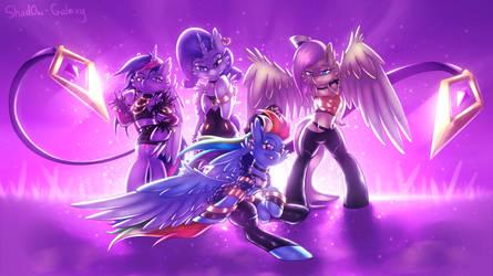 K/DA My Little Pony [MLP x LoL] by Shad0w-Galaxy