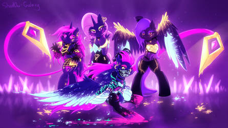 K/DA My Little Pony Neon [MLP x LoL] by Shad0w-Galaxy