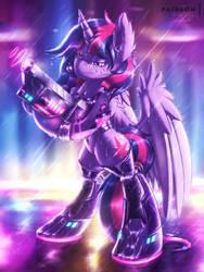 Cyber Twi [MLP Twilight] by Shad0w-Galaxy