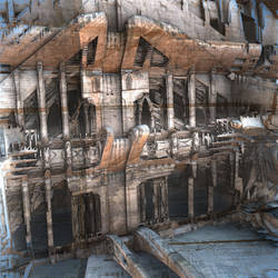 Crumbling Facade by HalTenny