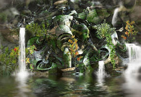 Tuber Water Feature by HalTenny