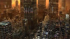 Big City Sunset by HalTenny