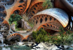 Giant Mushroom Creek by HalTenny