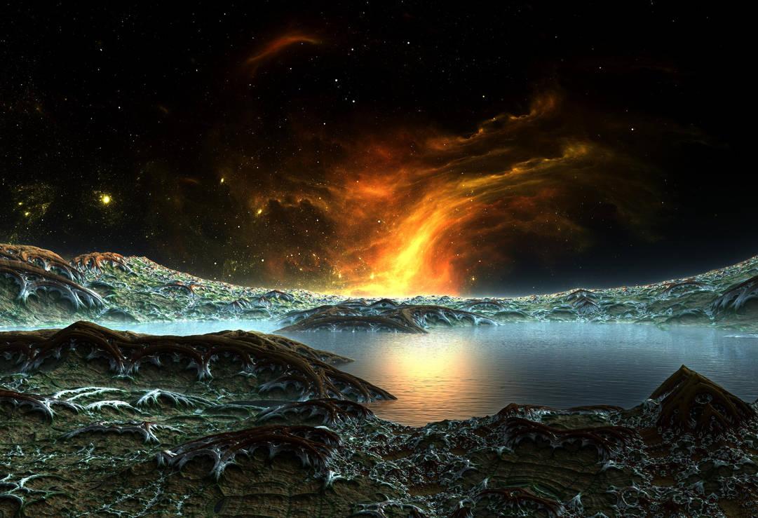 Burning Nebula Lake by HalTenny