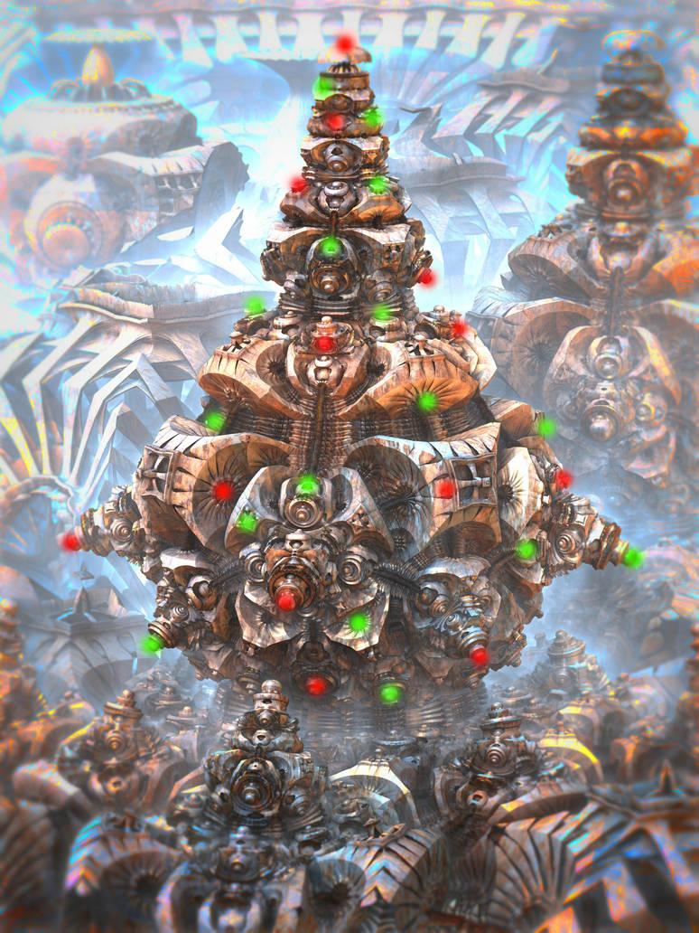 A Mandelbulb Christmas by HalTenny