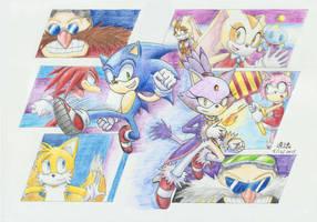 Sonic Rush 10th Anniversary by tabiki999