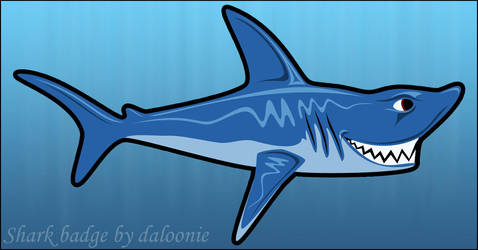 Shark Vector Badge by DaLoonie