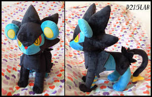 Luxray plush by d215lab