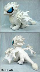 White dragon plush by d215lab