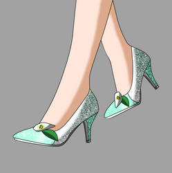 Melanie Floral's Wedding Shoes by Major-Link