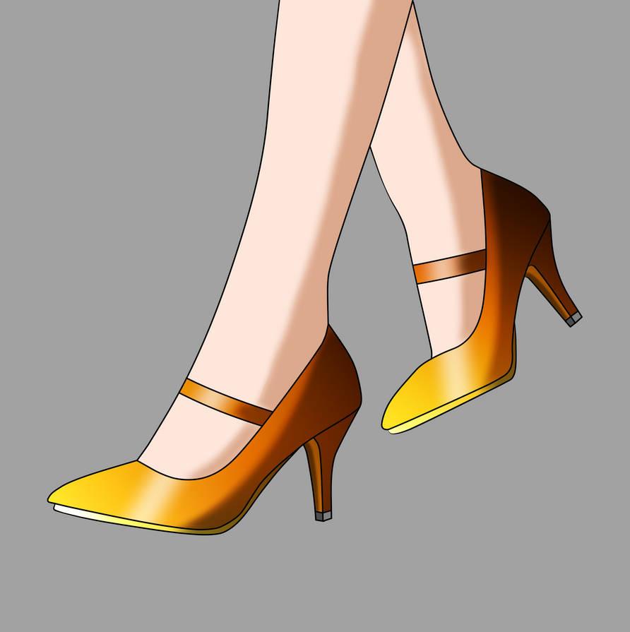 Princess Cecilia Lamberg's Gold Mary Janes by Major-Link