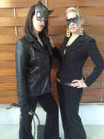 Batgirl and Catwoman - Business Style by Foayasha