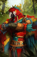 Macaw Monk [Commission] by Devtexture