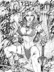 Red Sonja by toegar