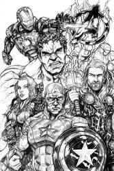 Avengers Assemble!!! by toegar