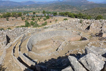 Mycenae - Royal Grave Circle by bobswin
