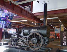 Stephenson's Rocket at Manchester by bobswin