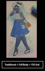 Full body + Traditional n background by COSTANINA