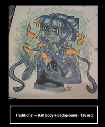 Traditional + Half Body Plus Background by COSTANINA