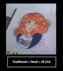 Traditional + Head No Backgound by COSTANINA