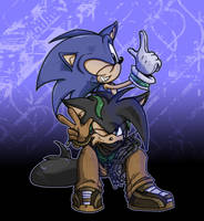 Sonic and SP - Chillin by SHADOWPRIME