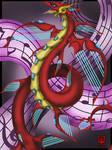 Constellation Dragon #58, Lyra by AquaMind