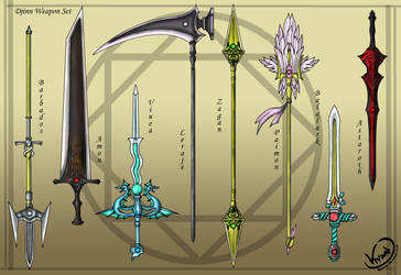 Djinn Weapon Set by AquaMind