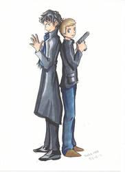 Holmes and Watson by Linka-Neo