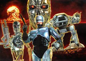 Robocop vs. Terminator by patjanus