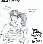 Happy Birthday, Kyo and Yuri (2018) by BlueWolfRanger95