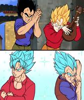 Goku and Vegeta, Vegeta and Goku by MamaCharms