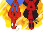 deadpool x spiderman by ulquiorravastolorde