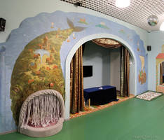 wall painting whale by Denkiko