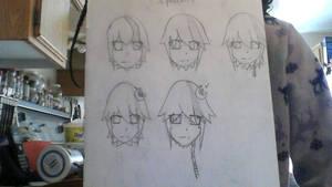 Chigai draft (facial and hair) by YumiTsukiyoru