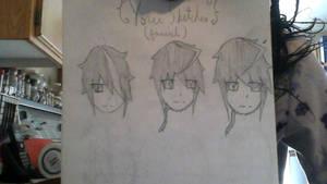 Yoru drafts (facial and hair) by YumiTsukiyoru