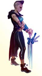 Black Female Knight by Rikyo