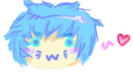 .:Blue Chibi Head:. by Eridan-Swwag