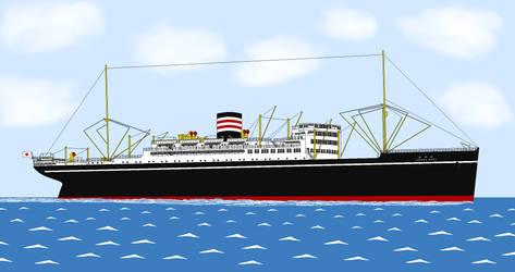 Hikawa Maru REMAKE by Oceanlinerorca