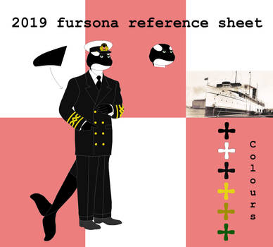Fursona reference sheet 2019 by Oceanlinerorca