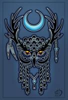 Horned owl by Gerie-Aren