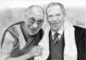 Holiness Dalai -Lama and Vaclav Havel by byMichaelX
