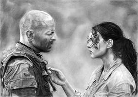 Bruce Willis and Monica Bellucci by byMichaelX